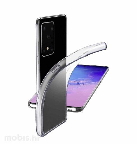 Cellular line silikonska zaštita za uređaj Samsung Galaxy S20 Ultra: prozirna