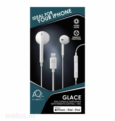 Cellularline slušalice iPhone MFI Glace: bijele