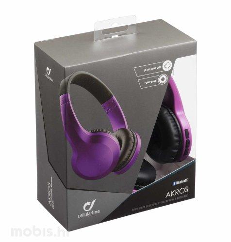 Cellular line AQL Bluetooth Akros slušalice: ljubičaste