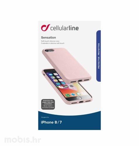 Cellular line silikonska zaštita za iPhone 7/8/SE2: roza