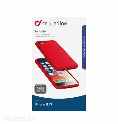 Cellularline silikonska zaštita za iPhone 7/8/SE2: crvena