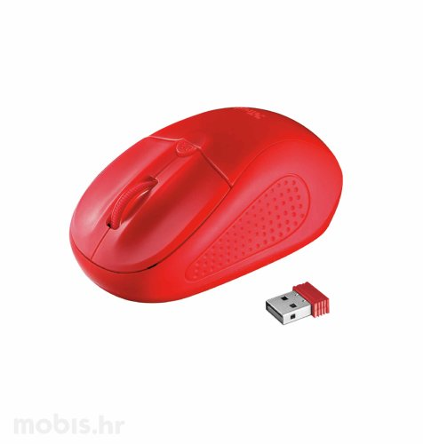 Trust Primo bežični miš: crveni