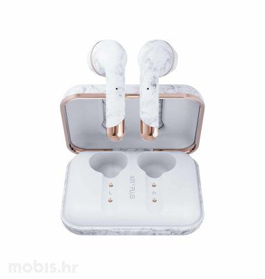 Happy Plugs Air1 Plus Earbud bežične slušalice: mramorno bijele