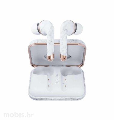Happy Plugs Air1 Plus In-Ear bežične slušalice: mramorno bijele