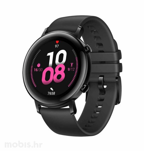 Huawei Watch GT 2 (42 mm): crni sportski + Huawei Body Fat vaga: bijela