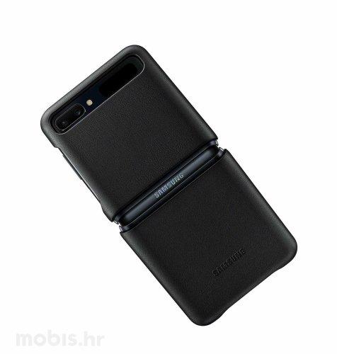 Kožna maska za Samsung Galaxy Z Flip: crna