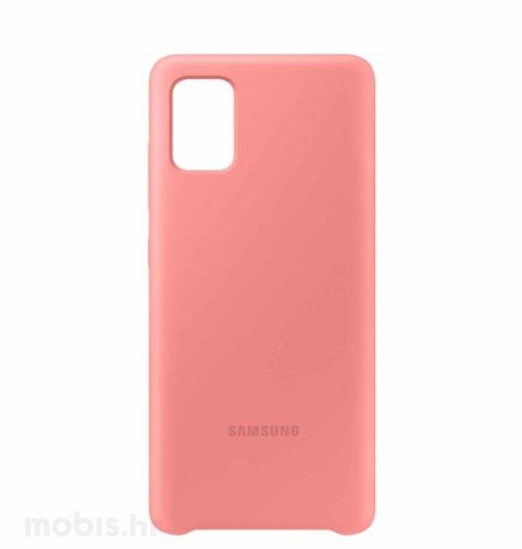 Silikonska maska za uređaj Samsung Galaxy A51: roza