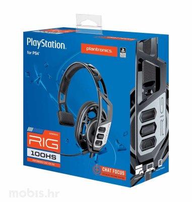 Nacon Rig 100HS gaming slušalice za PS4: crne
