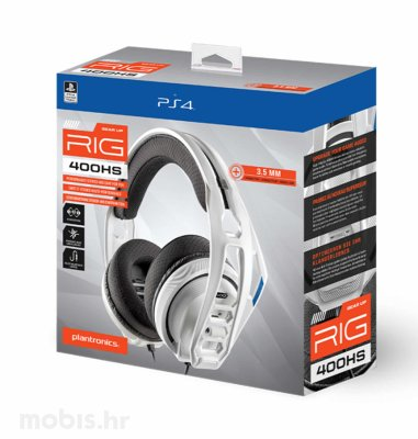 Nacon Rig 400HS gaming slušalice PS4: bijele