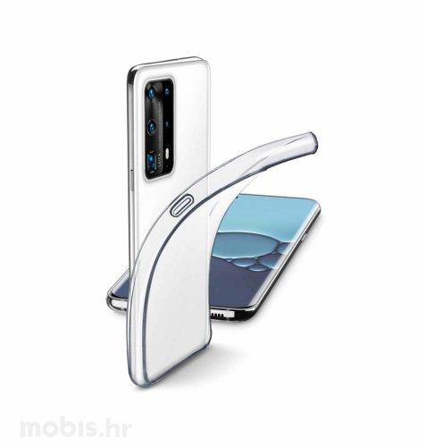 Cellular line silikonska zaštita za uređaj Huawei P40 Pro: prozirna