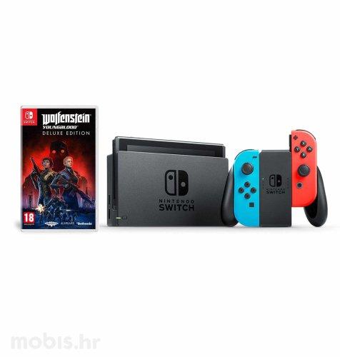 Nintendo Switch Joy-Con Had: crvena i plava + Wolfenstein Youngblood