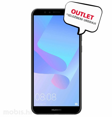OUTLET: Huawei Y6 2018: crni