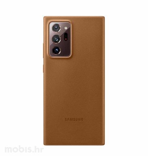 Kožna maska za Samsung Galaxy Note 20 Ultra: smeđa