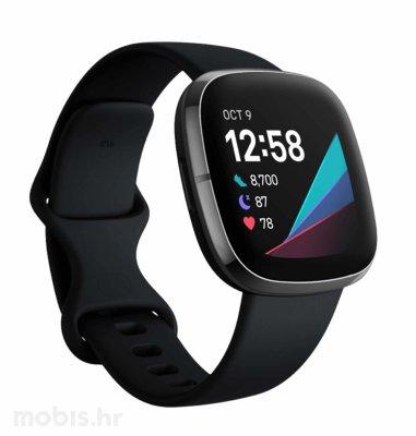 Fitbit Sense pametni sat: crni