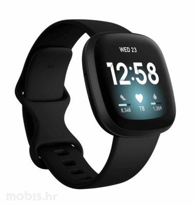 Fitbit Versa 3 pametni sat: crni