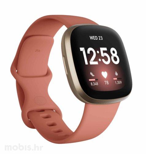 Fitbit Versa 3: rozo-zlatni
