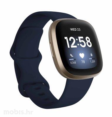 Fitbit Versa 3: plavo-zlatni