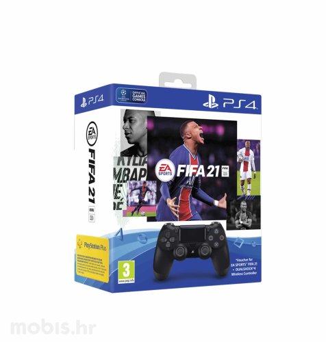 FIFA 21 + DualShock V2 kontroler + FUT VCH + PS Plus 14 dana