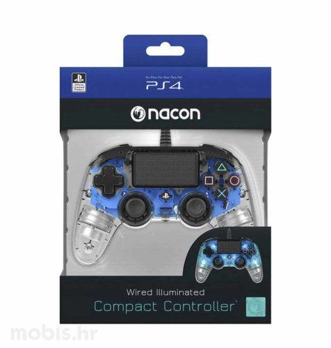 Bigben Nacoon PS4 kontroler: prozirno-plavi