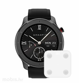 Xiaomi Huami Amazfit GTR 42mm pametni sat: crni + Xiaomi pametna vaga