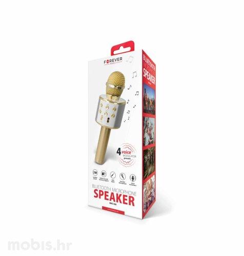 Forever bežični mikrofon sa zvučnikom (BMS-300): zlatni