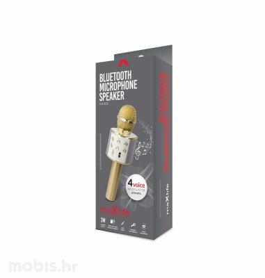 Maxlife bluetooth mikrofon sa zvučnikom (MX-300): zlatni