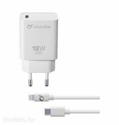 Cellular Line punjač i kabel Apple USB-C C-MFI