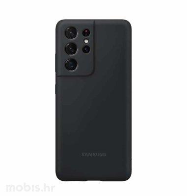 Silikonska zaštita za Samsung Galaxy S21 Ultra: crna
