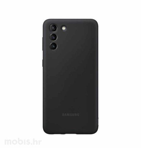Silikonska zaštita za Samsung Galaxy S21: crna