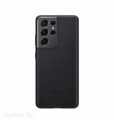 Kožna zaštita za Samsung Galaxy S21 Ultra: crna