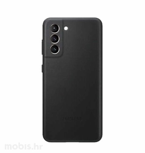 Kožna zaštita za Samsung Galaxy S21: crna