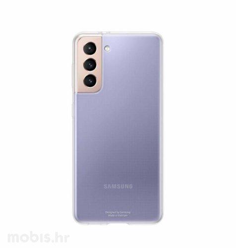 Silikonska zaštita za Samsung Galaxy S21: prozirna