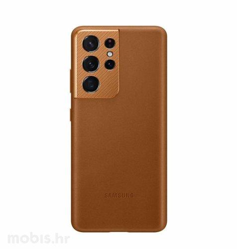 Kožna zaštita za Samsung Galaxy S21 Ultra: smeđa