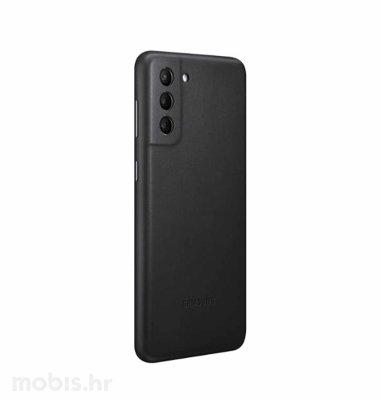 Kožna zaštita za Samsung Galaxy S21+: crna