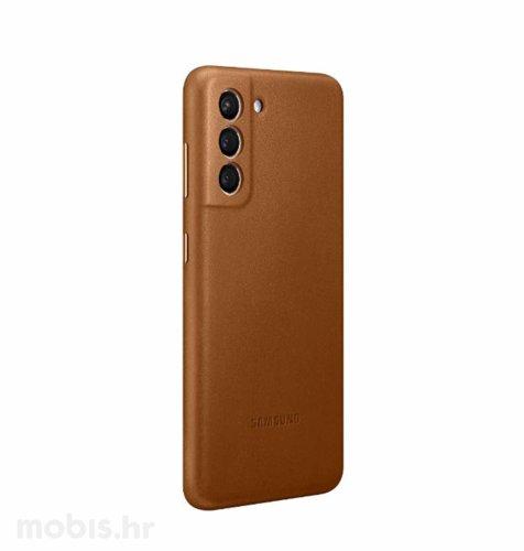 Kožna zaštita za Samsung Galaxy S21: smeđa