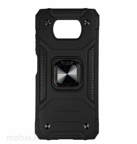 MaxMoblile zaštitna maska za Xiaomi POCO X3 i X3 NFC Anti-Shock: s prstenom II: crna