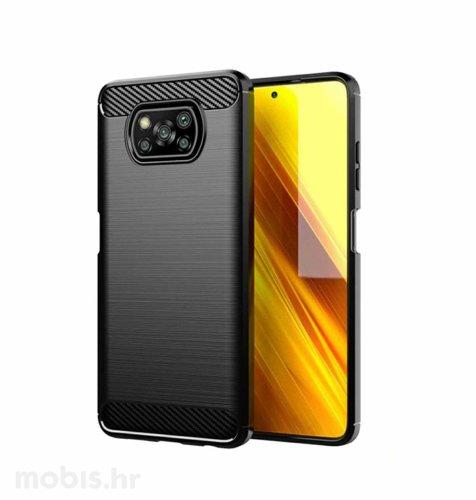 MaxMobile zaštitna maska za Xiaomi Poco X3 Carbon Fiber: crna