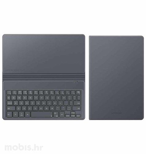 Zaštitni book cover s tipkovnicom za Samsung Tab A7: sivi