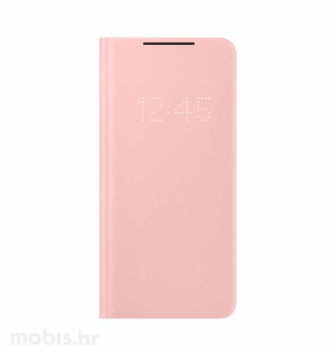 LED View maska za Samsung Galaxy S21+: roza