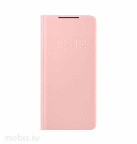 LED View maska za Samsung Galaxy S21: roza