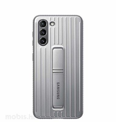 Zaštitna stojeća maska za Samsung Galaxy S21: siva