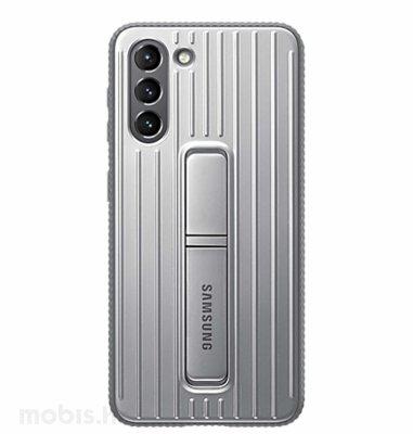 Zaštitna stojeća maska za Samsung Galaxy S21+: siva