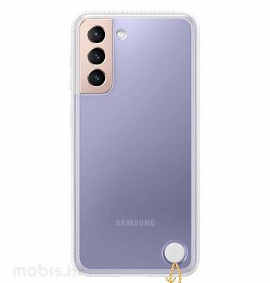 Prozirna maska za Samsung Galaxy S21+: bijela