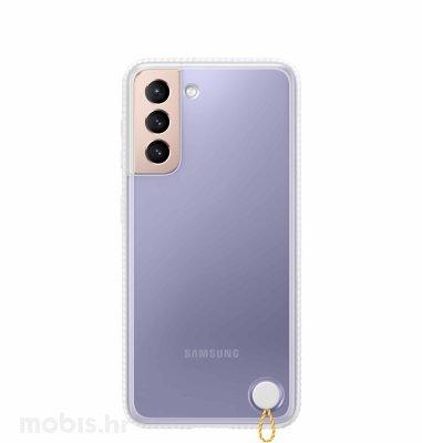 Prozirna maska za Samsung Galaxy S21: bijela