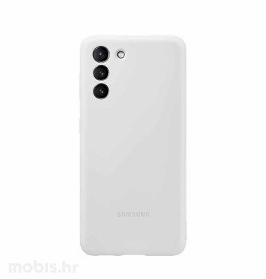 Silikonska maska za Samsung Galaxy S21: svijetlo siva