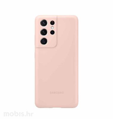 Silikonska maska za Samsung Galaxy S21 Ultra: roza