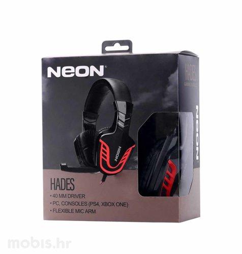 Neon Hades, gaming slušalice, crno – crvene