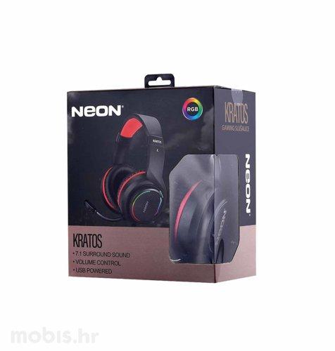 Neon Kratos, gaming slušalice, crno – crvene