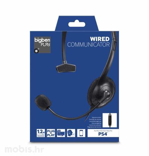 Bigben Communicator Slušalice za PS4: crne