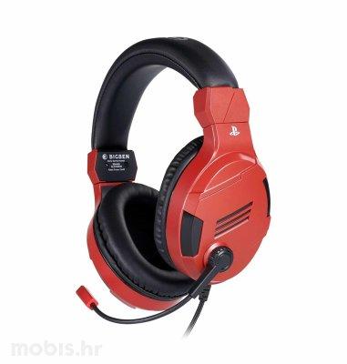 Bigben Stereo Gaming Slušalice V3 zaPS4: crvene